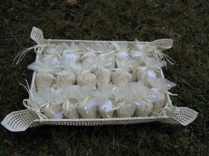 Sacchetti riso matrimonio or47 regardsdefemmes - Cesti porta bomboniere matrimonio ...